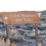 Cricket Mountains OHV Trail – Millard CO Utah